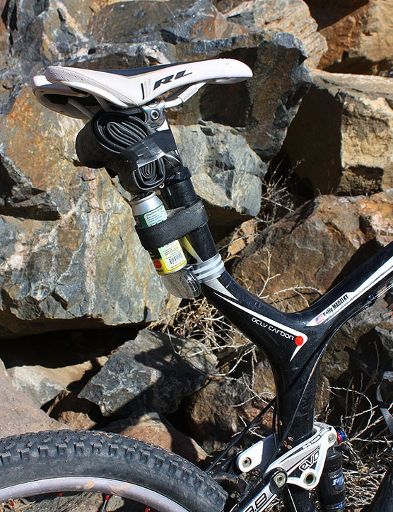 Trek's latest Top Fuel frame uses a semi-integrated seat tube