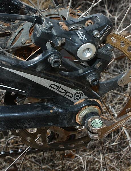Trek's Active Braking Pivot dropouts yield a noticeable improvement in rear wheel traction under braking