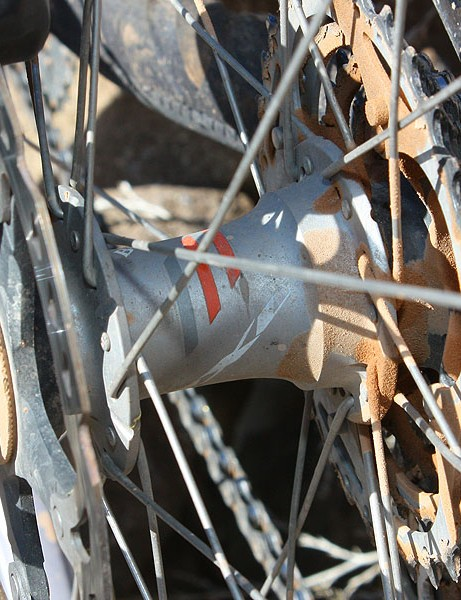 The Bontrager Race X Lite wheels feature the company's new rear hub design