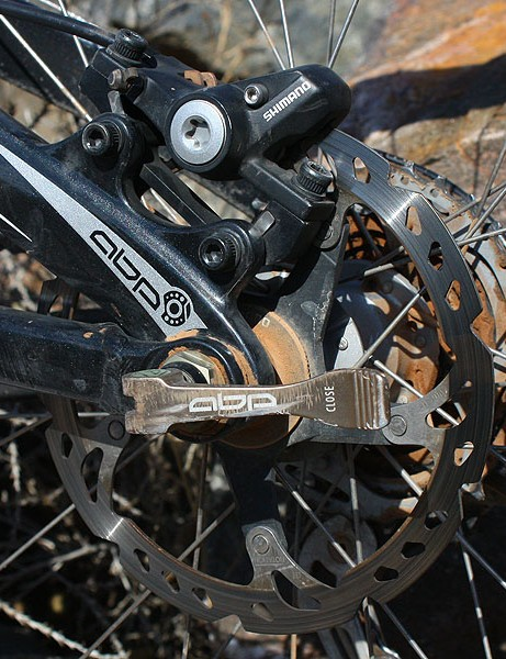 … matched to a 160mm out back though it's not by preference; that's just how it came from Trek