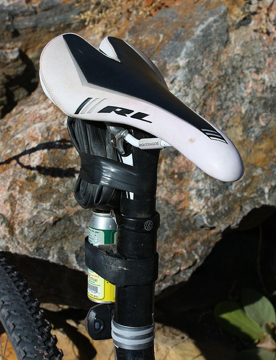 Magelky stuck with the stock Bontrager Race Lite saddle that came on his bike