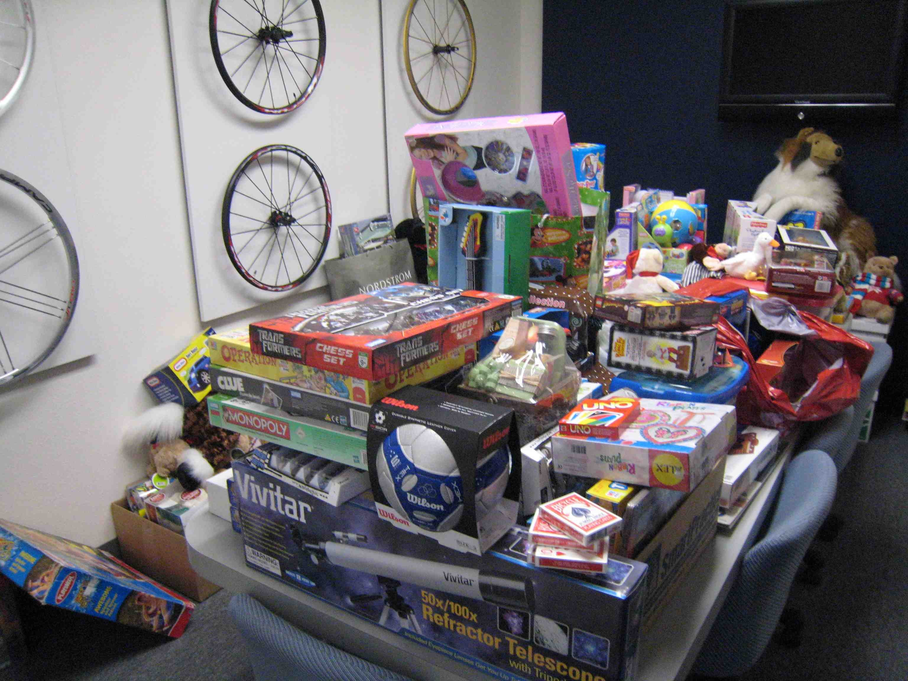 More than 300 items were donated last year.
