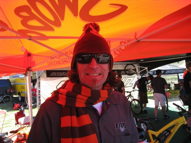 Swobo devotee and poster child Joe Parkin under the orange tent at the 2009 Sea Otter Classic.