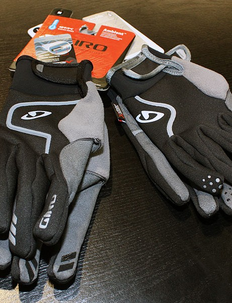 The new Ambient and Candela gloves from Giro feature mild insulation, Clarino palms and silicone fingertips
