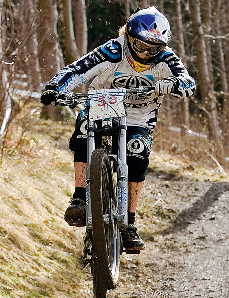 Rachel Atherton showing how it's done at Innerleithen, which will host a new three-race downhill series this winter
