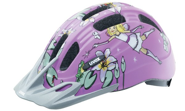 The Uvex Cartoon helmet for young girls.