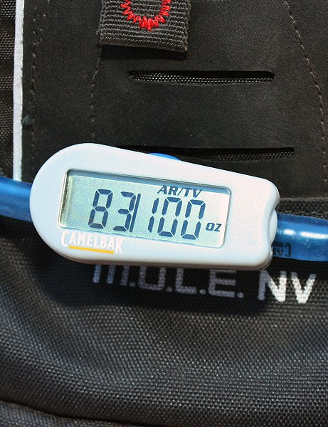 Many of you might think CamelBak's new inline flow meter is silly and admittedly it will be little more than a novelty to many. But for others, it could be a valuable resource to ensure you're hydrating according to schedule and can finish that event with energy to spare