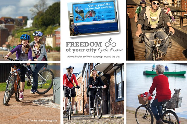Cycle Exeter billboard campaign launched recently.