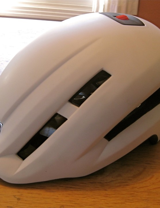 The Lazer Urbanize helmet addresses function with a built-in visor and removable head and tail lights.