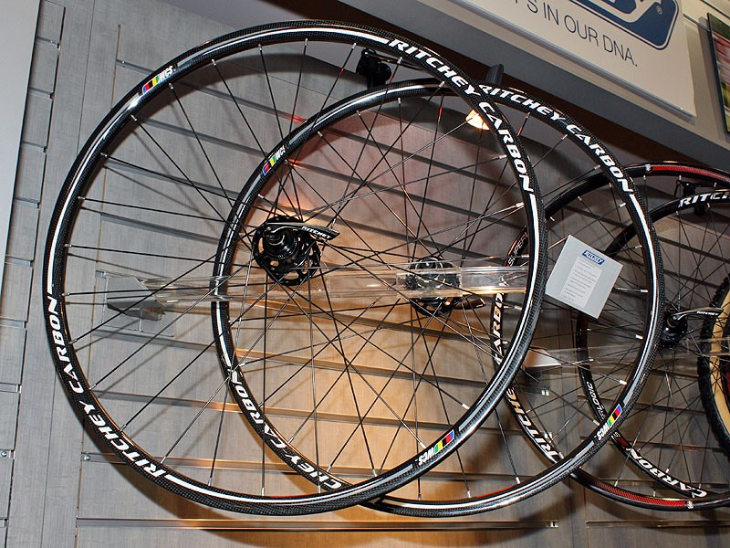 WCS-level carbon fibre mountain bike wheels feature more conventional carbon construction with a woven finish