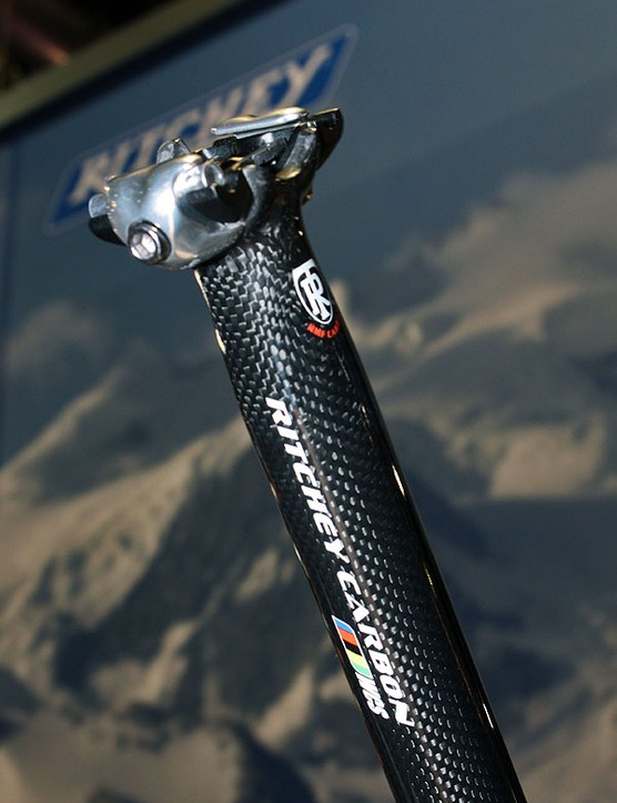 New for 2010 is a carbon version of Ritchey's zero-offset one-bolt seatpost design