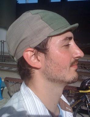 Matty likes his new cap.