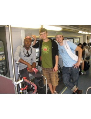 On the way home: Juan, Henri and Matty after a long day on the bike.