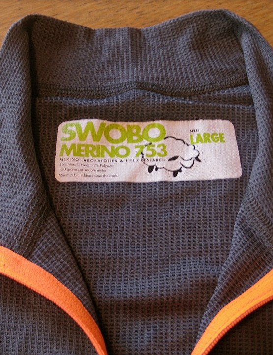 The new US$110 Swobo Merino 753 wool jersey.