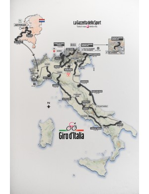The race route of the 2010 Giro d'Italia