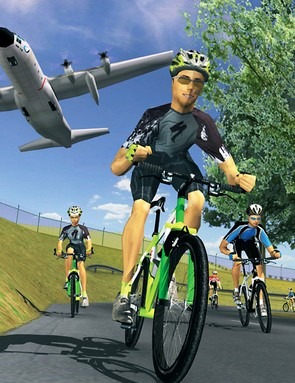 Riders can opt to view themselves in a video-game-like environment…