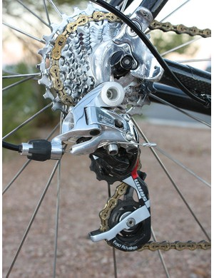 Compton switched from Campagnolo to SRAM for this season and unlike before when she had to buy parts, now she's fully supported