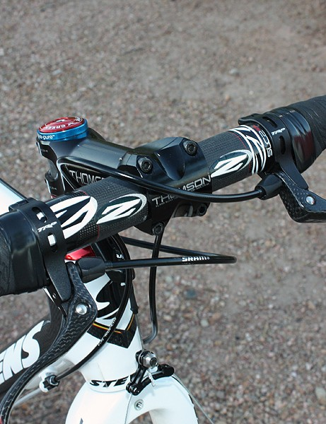 Compton is among the many pros using supplemental top-mounted brake levers