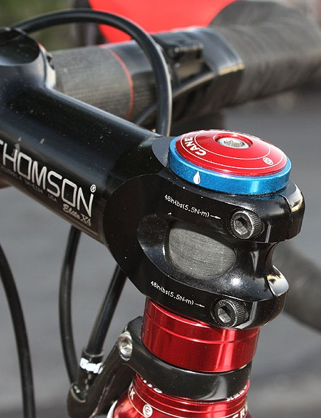 The blue spacer up top signifies Compton's support for the Bike Pure initiative