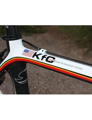 The 'K' is for Katie and the 'C' is for Compton. We'll leave it to your imagination what the 'f' is for but suffice to say it's in reference to her take-no-prisoners style of racing
