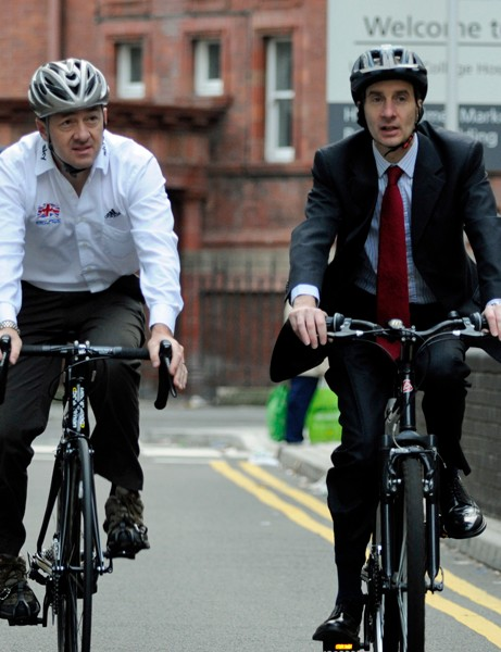 Lord Adonis and Chris Boardman