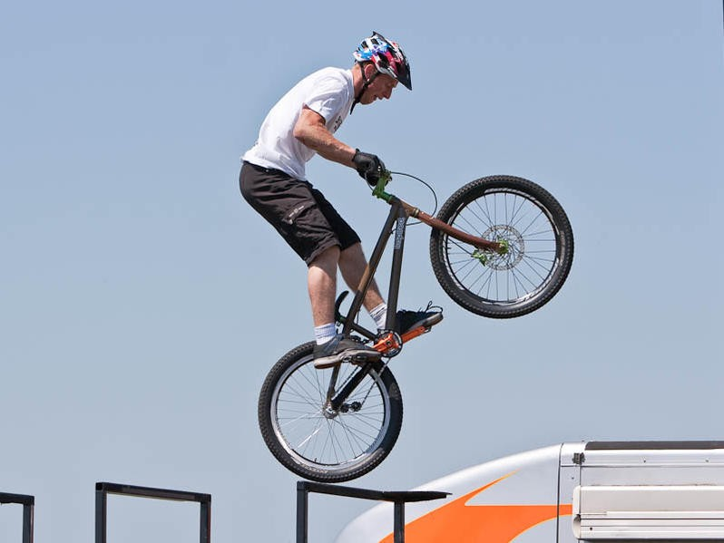Danny MacAskill, pictured at BikeRadar Live, is starring in an ad for the new VW Golf Estate