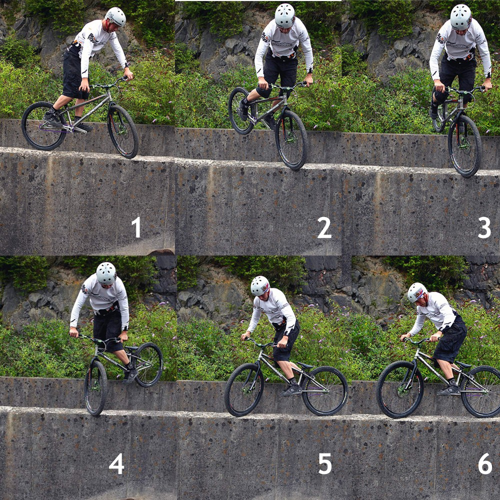 Front Wheel Pivot Turn Sequence