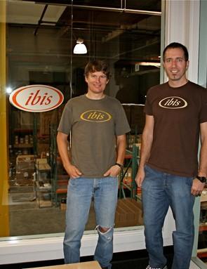 Hans Heim (L) and Tom Morgan in their Santa Cruz headquarters.
