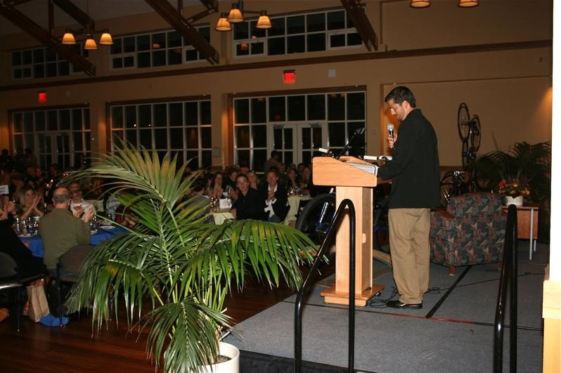League founder and director Matt Fritzinger addresses the crowd in 2008.