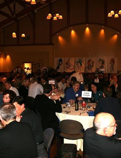 Scenes from the 2008 NorCal League CycleFest dinner in Mill Valley, CA.