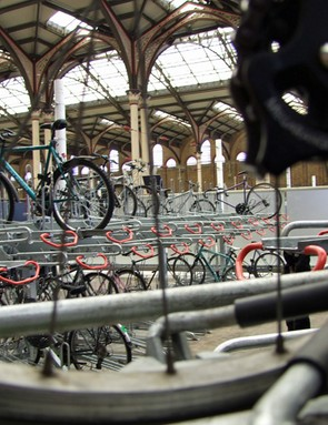 New two-tier bike stands have doubled the amount of parking at London's Victoria Street Station