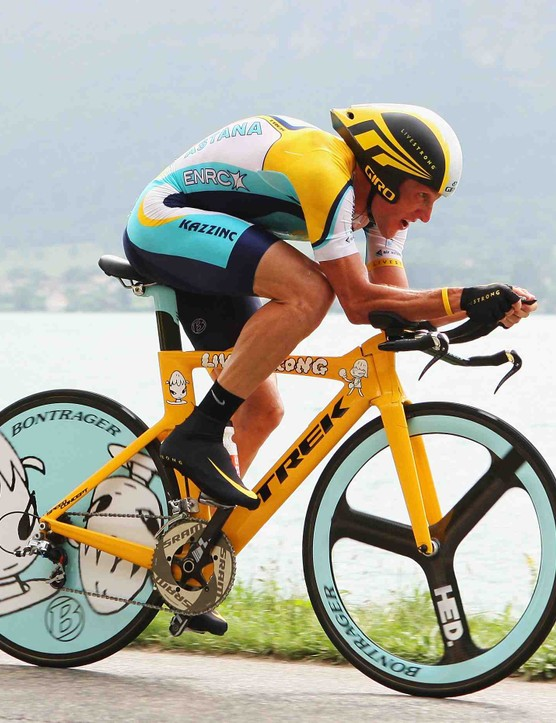 Armstrong during the final time trial of the 2009 Tour de France on July 23.