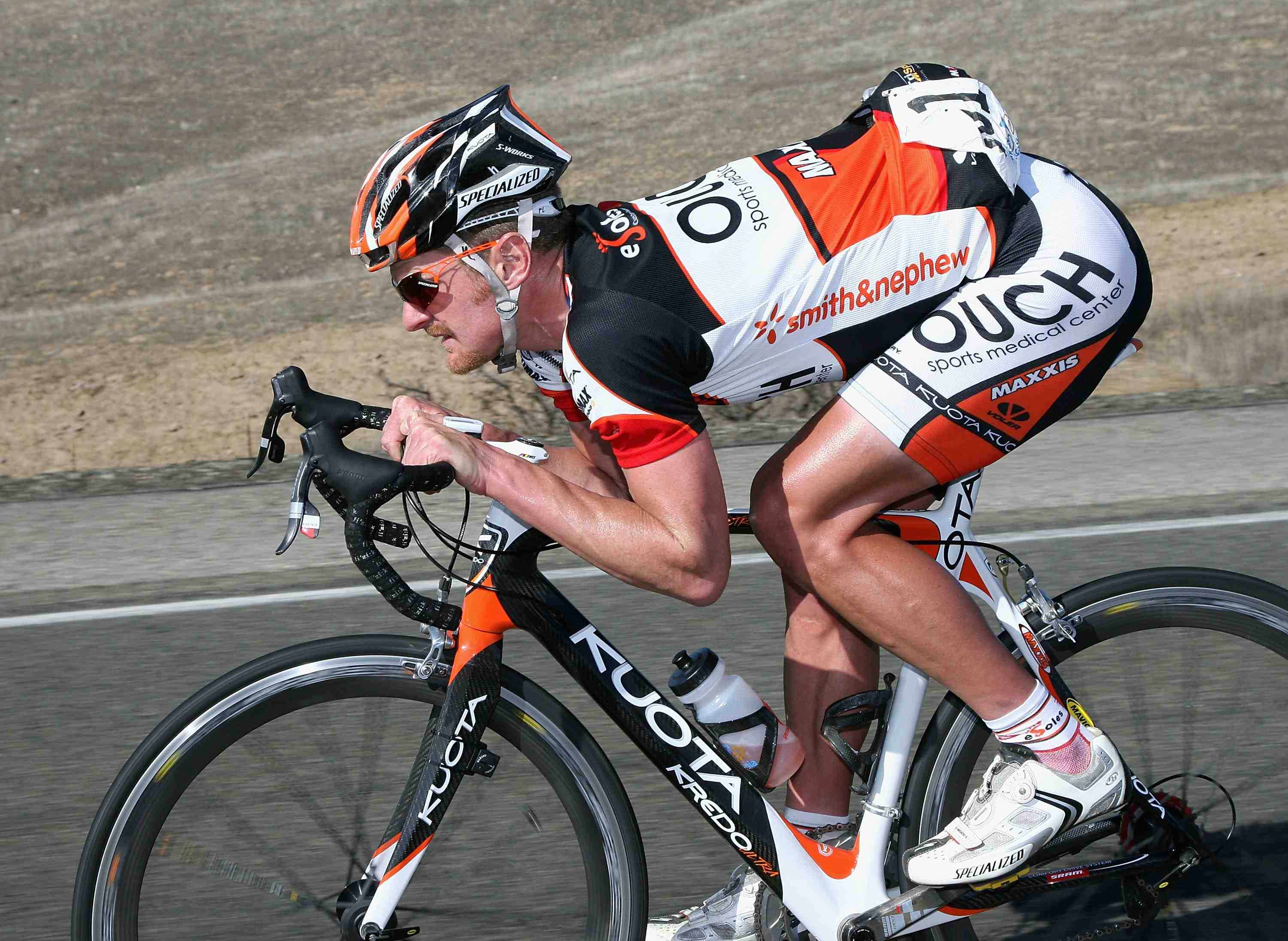 American road racer Floyd Landis (Team OUCH) competes in Stage 5 of the AMGEN Tour of California from Visalia to Paso Robles on February 19, 2009 in San Luis Obispo County, California.