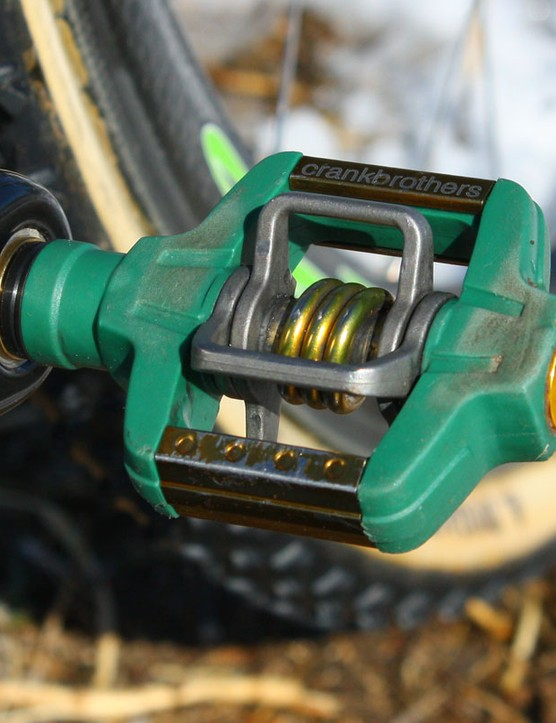 Power recently took delivery of these custom coloured CrankBrothers Candy 4ti pedals