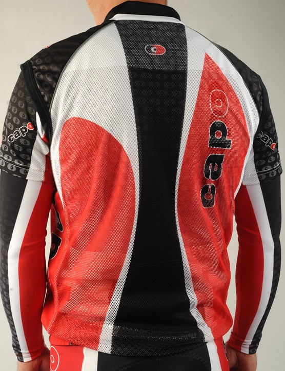… and open mesh back for breathability
