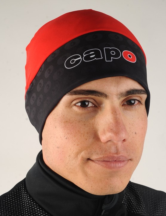 The Capo Atlas Roubaix Hat feels warm but is thin enough to easily fit beneath most helmets