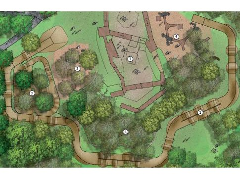 A purpose-built bike park will open at Lordship Recreation Ground in 2011. This artist's impression shows what it could look like