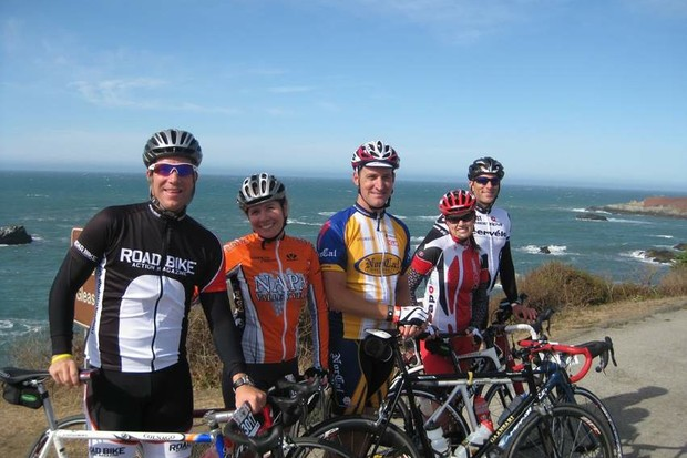 Participants of the Levi Leipheimer Gran Fondo enjoyed sunny skies and warm temperatures along the PAcific Coast in Sonoma County, California October 3, 2009.