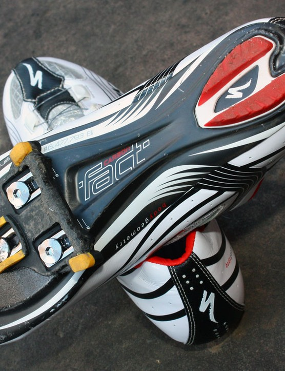 The new carbon sole uses a hollow foam core for lighter weight