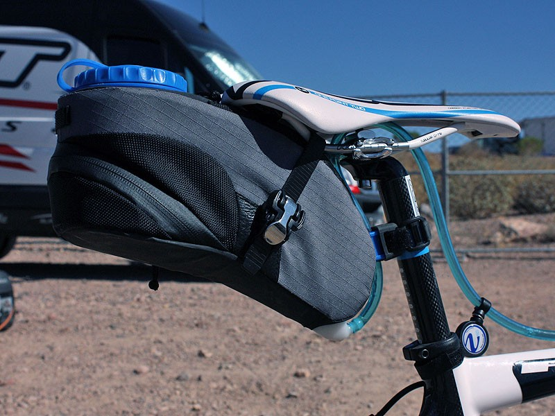 The VelEau hydration system keeps 1.2L (40oz) of fluid within quick and easy reach during time trials or when bottles and hydration packs just aren't enough