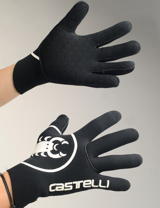 The gloves borrow technology from scuba wetsuits