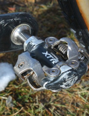 Shimano XTR pedals' consistency and durability make them a popular choice among top pros
