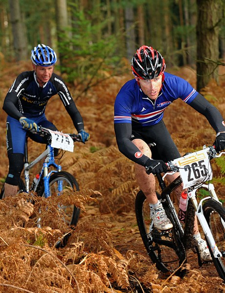 Scott Forbes threads his way through the trees at the Gorrick Autumn Classic 2