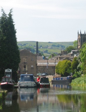 Distinctive South Pennines mill town scenery
