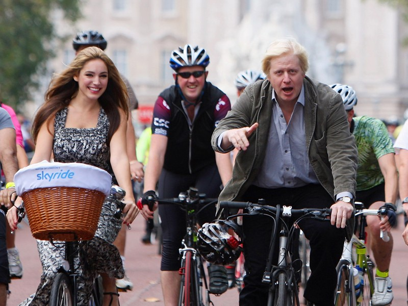 London mayor Boris Johnson, right, has hit out at cyclists who break the rules
