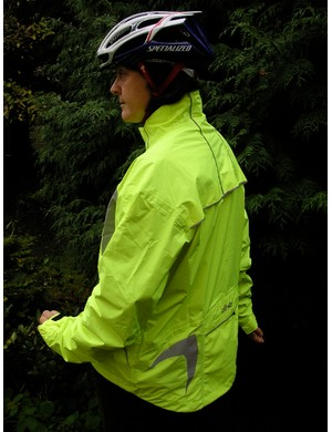 Being more visible doesn't have to break the bank. DHB's tough Amberley waterproof jacket costs a very reasonable £54.99 and comes with long underarm zips that seem to be more effective at letting excess heat build up escape than many of the breathable jacket materials we've tested. From www.wiggle.co.uk