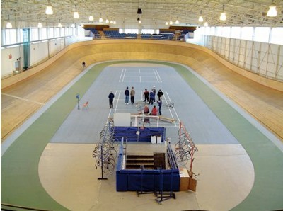 The CalShot velodrome in Southampton.