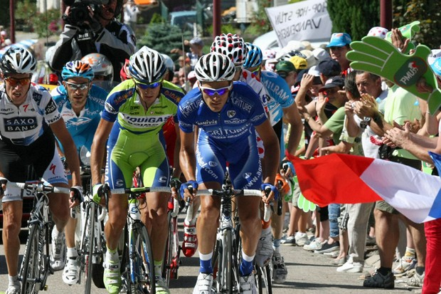 Sylvain Calzati of France (right) has joined Team Sky