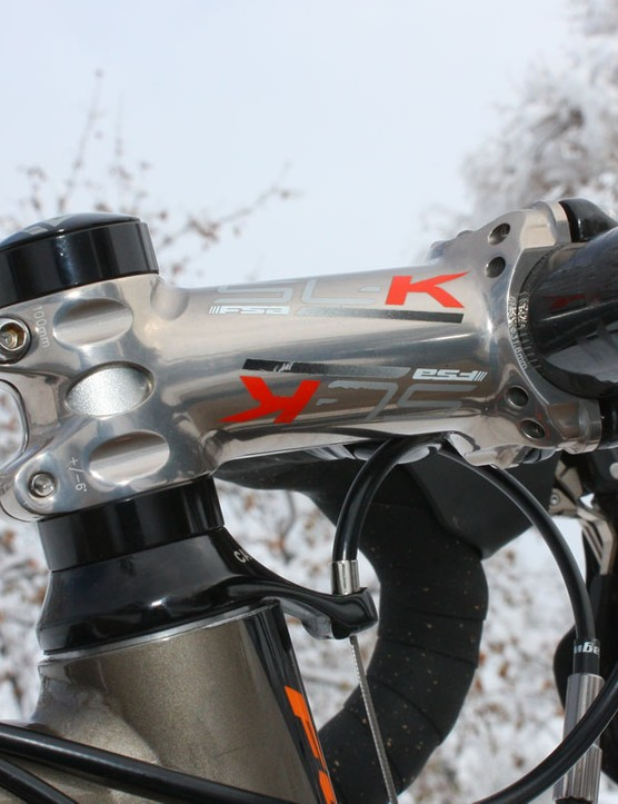The FSA SL-K stem features a trick new finish for 2010