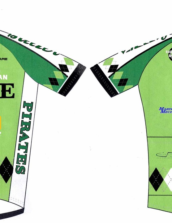 The Drake High School NorCal League jersey.